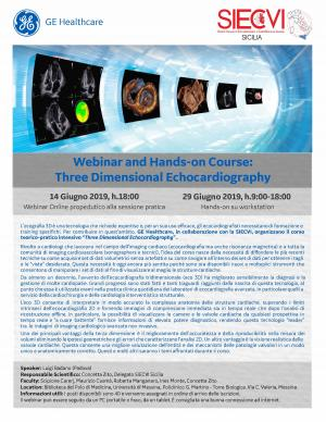 Webinar and Hands-on Course: Three Dimensional Echocardiography